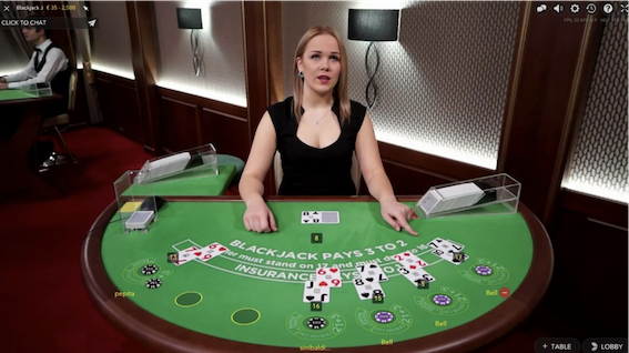 playing live dealer blackjack online with bitcoin