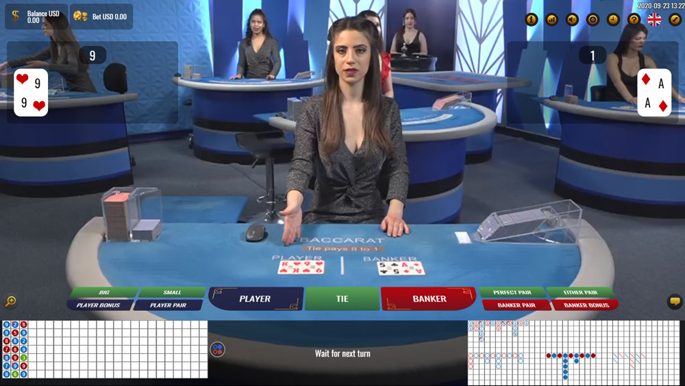 Playing Live Dealer Baccarat online with bitcoin